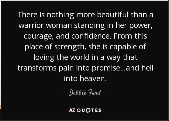 Teressa warrior woman quote